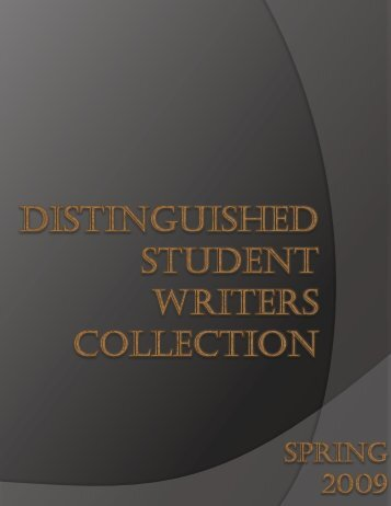 Distinguished Student Writers Collection - University of Central ...