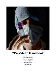 """""""Pre-Med"""" Handbook - University of Central Missouri"""