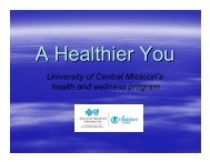 A Healthier You - University of Central Missouri
