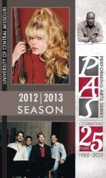 2012-2013 Season Brochure - University of Central Missouri