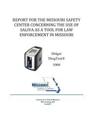 report for the missouri safety center concerning the use of saliva