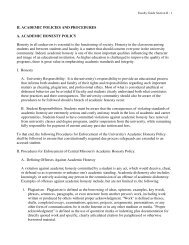 Academic Policies and Procedures - University of Central Missouri