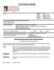 INVITATION FOR BID - University of Central Missouri
