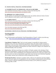 IV. INSTITUTIONAL POLICIES AND PROCEDURES A ...