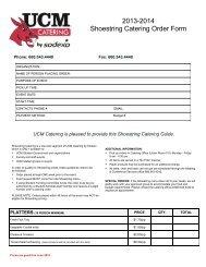 2012-2013 Shoestring Catering Order Form