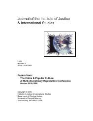 Journal of the Institute of Justice & International Studies