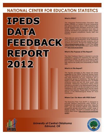2012 IPEDS Feedback Report - University of Central Oklahoma