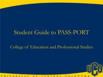 Student PASS-PORT Support Guide