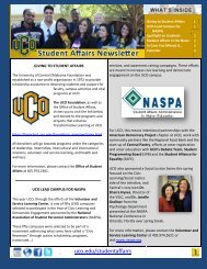 May 2013 Newsletter - University of Central Oklahoma
