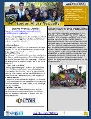 Summer 2013 Newsletter - University of Central Oklahoma
