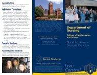 Nursing - University of Central Oklahoma