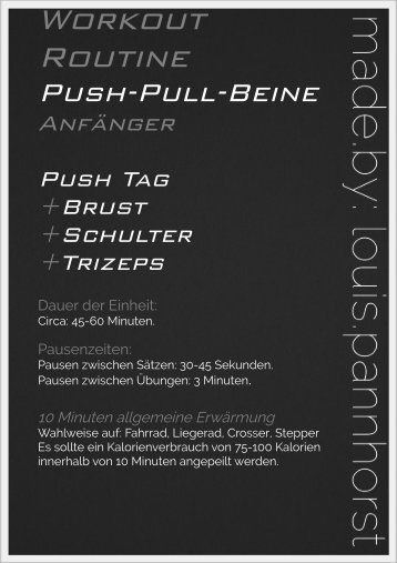 Workout Routine PPB An