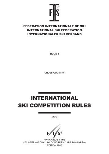 international ski competition rules - International Ski Federation