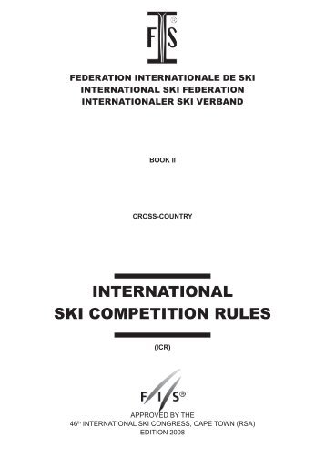 international ski competition rules - International Ski Federation