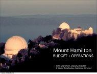 Mount Hamilton - UCO/Lick Observatory