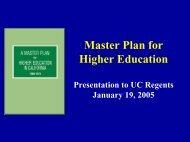 Master Plan for Higher Education - University of California   Office of ...