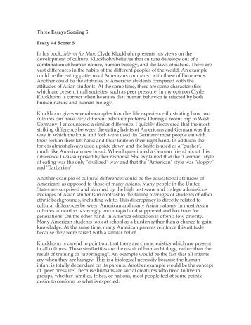 How To Start An Intro To An Essay Three Essays Scoring  Essay  Score  In His Book Mirror For Essays Against The Death Penalty also Essays About Mothers Love Sample Essays  With Scores And Diagnostics Same Sex Marriage Should Be Legal Essay