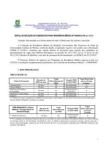 EDITAL RM 2013 - Universidade Católica de Pelotas