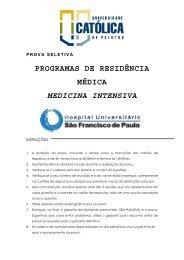 PROVA RESIDÊNCIA medicina intensiva 2011-2