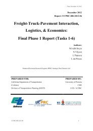 Final Phase 1 Report (Tasks 1-6) - University of California Pavement ...