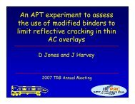 An APT experiment to assess the use of modified binders to limit ...