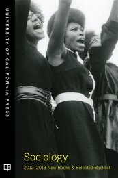 Sociology - University of California Press