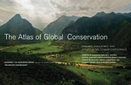 The Atlas of Global Conservation - University of California Press