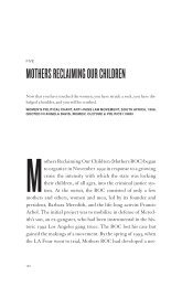 mothers reclaiming our children - University of California Press