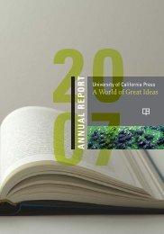 Fiscal Year 2007 (PDF) - University of California Press