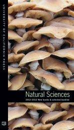 Natural Sciences - University of California Press
