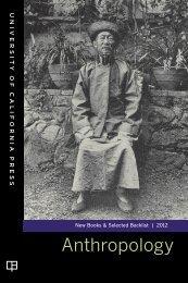 Anthropology - University of California Press