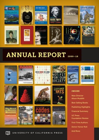 Fiscal Year 2010 (PDF) - University of California Press