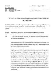 Entwurf der Allgemeinen Verwaltungsvorschrift zum ... - UCR eV