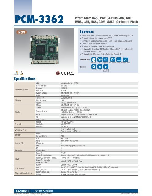 ADVANTECH PCM-3362 INTEL ETHERNET DOWNLOAD DRIVER