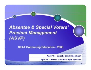 Ballots - Conference Planning and Management