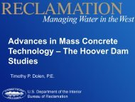 Advances in Mass Concrete Technology – The Hoover Dam Studies