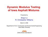 Dynamic Modulus Testing Dynamic Modulus Testing of Iowa Asphalt ...