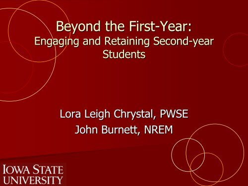 Beyond the First-Year: - Conference Planning and Management