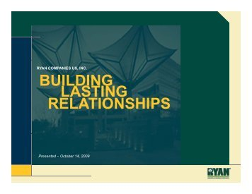 BUILDING BUILDING LASTING RELATIONSHIPS