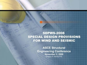 sdpws-2008 special design provisions for wind and seismic