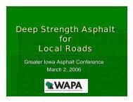 Deep Strength Asphalt for Local Roads