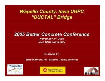 DUCTAL - Iowa State University