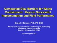 Compacted Clay Barriers for Waste Containment: Keys to ...