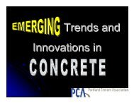 Emerging Trends in Concrete