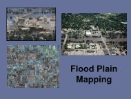 Flood Plain Mapping - Conference Planning and Management