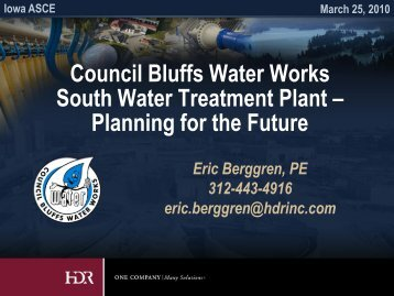 Council Bluffs Water Works South Water Treatment Plant – Planning ...