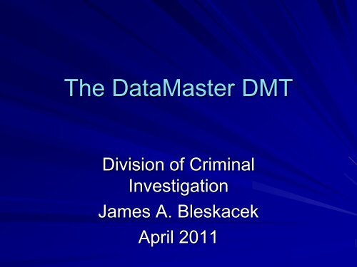 The DataMaster DMT - Conference Planning and Management