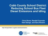 Cobb County School District: Reducing School Bus Fleet Diesel ...