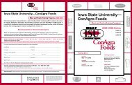 ConAgra Foods - Iowa State University