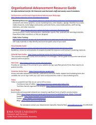 Organizational Advancement Resource Guide - Iowa State University